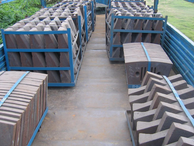 Cement Mill Wear Resistance Cast Iron Liner Plates For Conch Cement Group Diameter3.8M