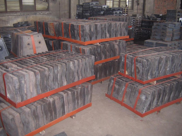 Cr-Mo Steel Liners for Coal Mills Hardness More than HRC48  Applied in Grinding Feldspar