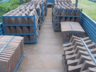 China Cement Mill Wear Resistance Cast Iron Liner Plates For Conch Cement Group Diameter3.8M supplier