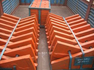 China Cr-Mo Alloy Steel Liner Plates High Abrasion Performance Applied in φ3.8M Cement Mill supplier