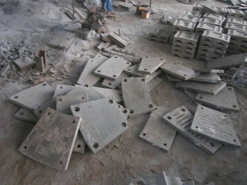 China High Cr Steel End Liner Castings HRC43-52 Hardness Abrasion Resistance supplier