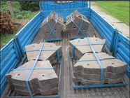 China Ni-hard Discharge End Liners For Φ2.6m Rod Mill Liners Used For Grinding Feldspar factory
