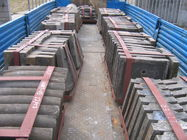 China Mn13, Mn13Cr2 And Mn18Cr2 Steel Casting Liners For Cement Mill / Ball Mill Liners DF049 factory