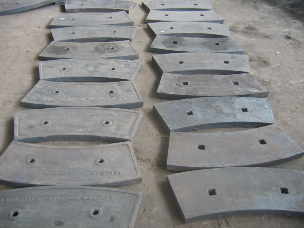 Cement Mill Operation : Shot blasting cast iron ball mill liners high hardness