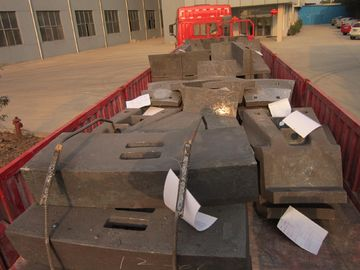 China Pearlitic Cr-Mo Large Industrial Ball Mill Liners Castings For SAG Mills factory