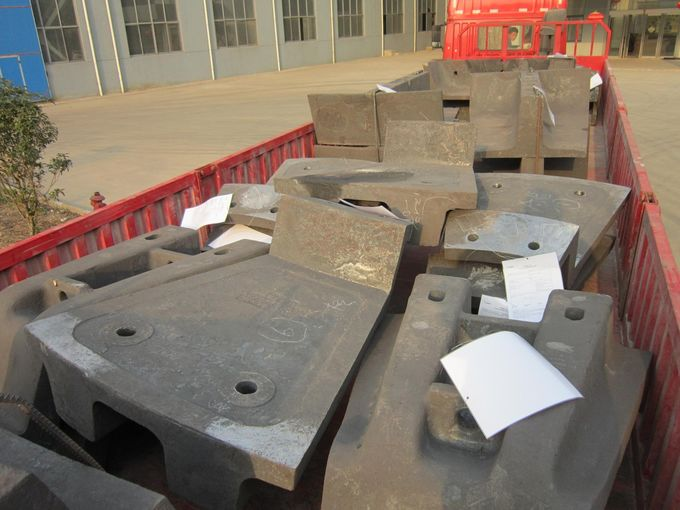 High Toughness Ni Hard Liners , Steel Mine Mill Liner Freed Head Long Service Life